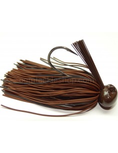 BASSPATROL JIG BROWN/BLACK RUBBER