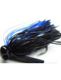 BASSPATROL JIG BLACK/BLUE SILICON
