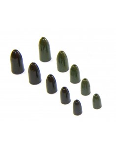 1/4 Oz.- Tungsten Worm Weights - 3 Pk