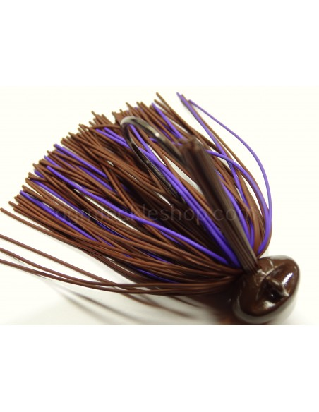 BASSPATROL JIG BROWN/PURPLE RUBBER