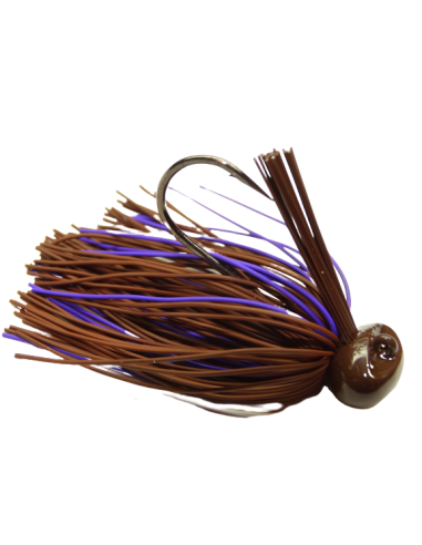 BASSPATROL Football Jig BROWN/PURPLE...