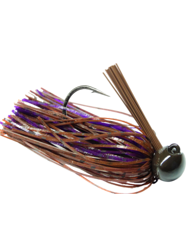 BASSPATROL Football Jig BROWN RED...