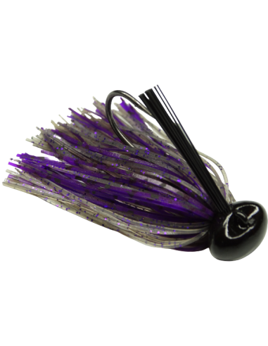 BASSPATROL Football Jig SMOKE PURPLE...